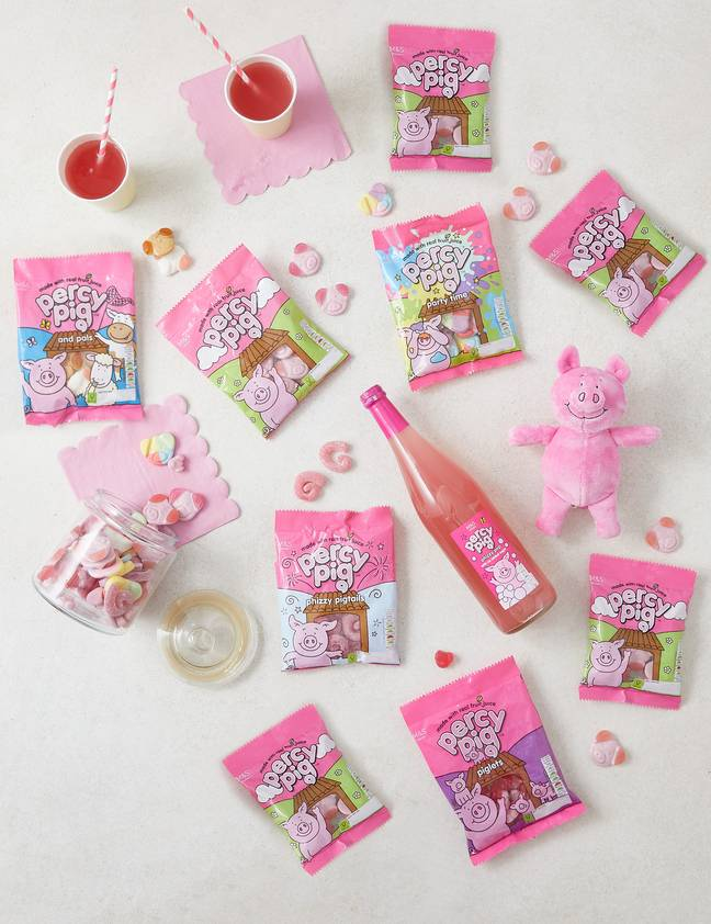 The bouquet is packed full of Percy Pig goodies (Credit: M&S)