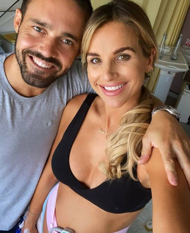 Vogue shared a snap of the couple in hospital (Credit: Vogue Williams)