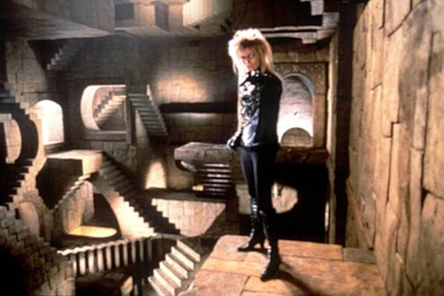 Once making it to the Goblin King's castle, Sarah confronts him to try and save her brother (Credit: TriStar Pictures)