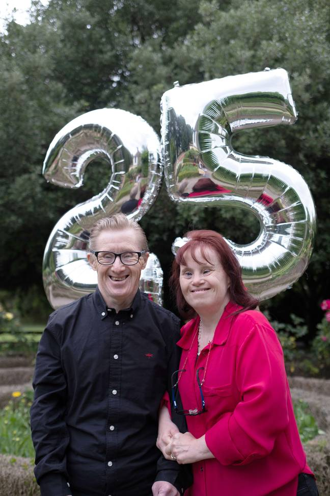 Maryanne, 48, and Tommy Pilling, 62, will celebrate their anniversary with a big party at their home (Credit: Caters)