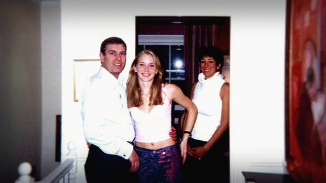 The Duke of York came under scrutiny after he was accused of sleeping with Epstein's 'sex slave' Virginia Guiffre when she was 17. He has said he has 'no recollection' of this photo being taken (Credit: Netflix)