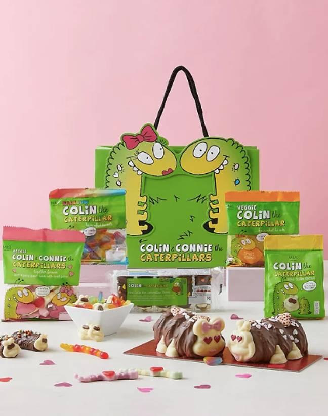 The 'Love Is In The Air With Colin & Connie Gift Bag' is priced at £30 (Credit: M&S)
