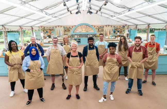 Bake Off's batch of bakers filmed in a Covid-secure bubble (Credit: Channel 4)