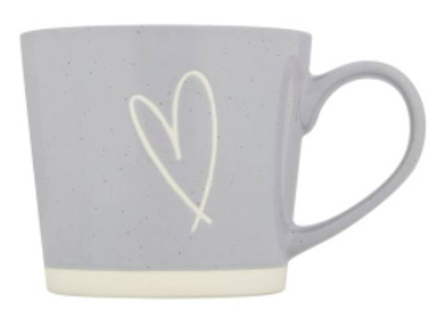 The mugs come in white and grey (Credit: Mrs Hinch x Tesco)
