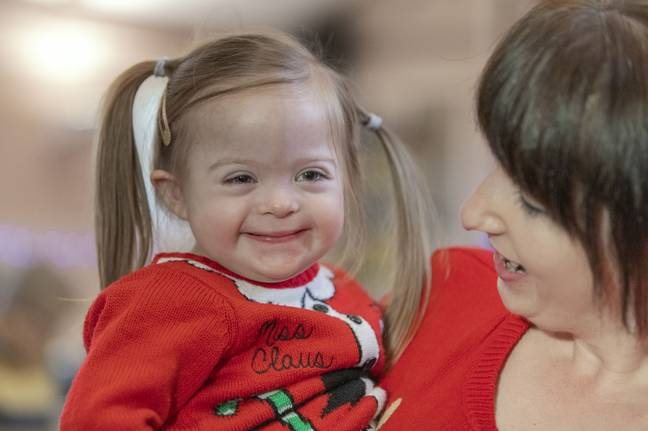 Rachel said having a daughter with Down's Syndrome has made her more aware about how people with disabilities are treated in society (Credit: Kennedy)