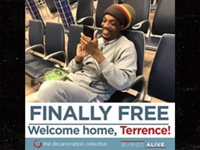 Terrence is freed after 25 years behind bars. Credit: Buried Alive campaign