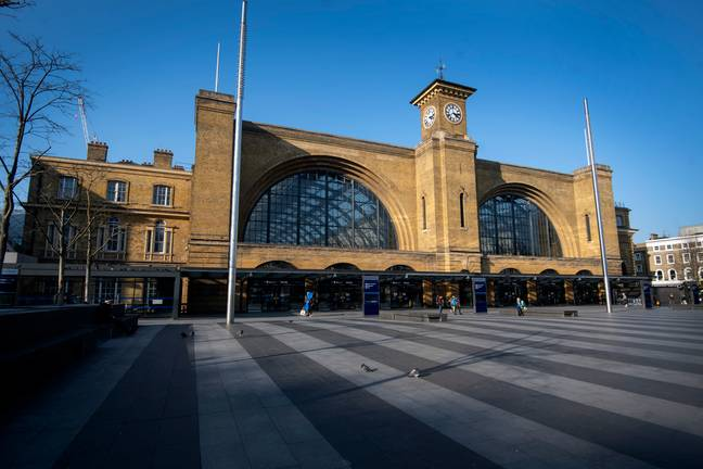 The poster has been taken down from King's Cross station (Credit: PA)