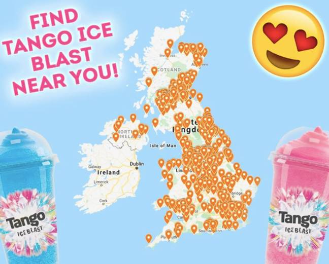 Tango has created an incredible map (Credit: Tango Ice Blast/Instagram)