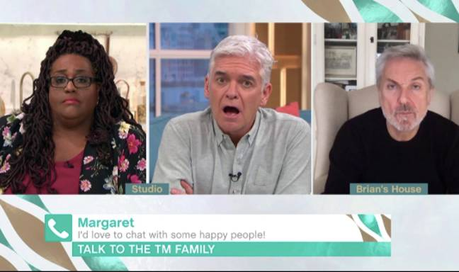 The This Morning presenters looked crestfallen at poor Margaret's situation (Credit: ITV)