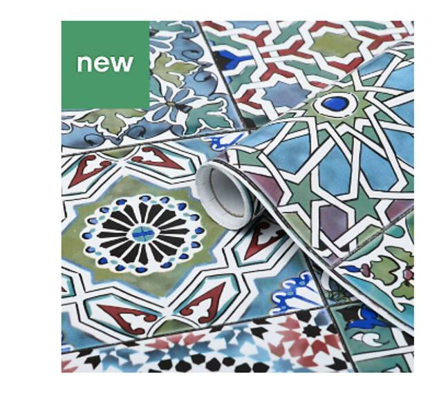 You can buy the tiles in many different patterns (Credit: B & Q)