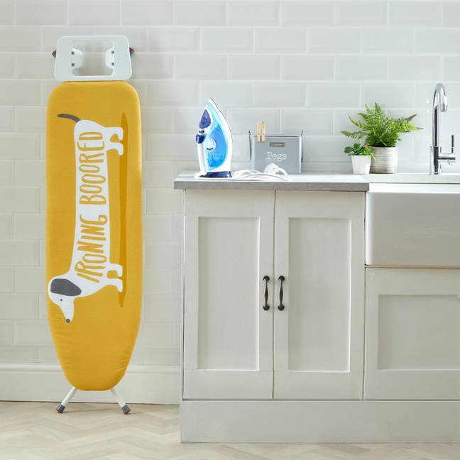 We'll be needing this adorable ironing board cover (Credit: Dunelm)