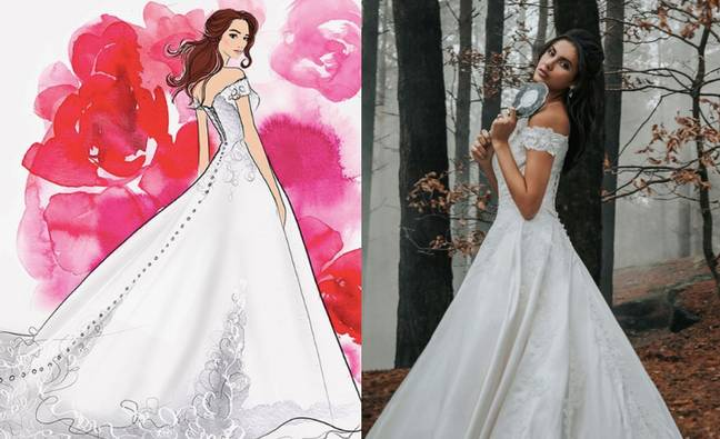 The first in Belle's dresses is ballgown ready (Credit: Allure Bridal/Disney)