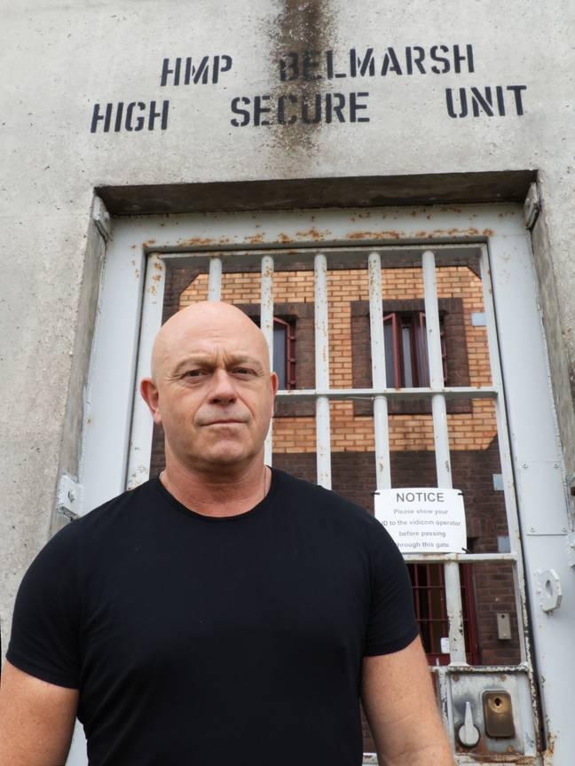 Ross spent a period of six months inside the jail with a camera team, gaining full access to the harsh realities of life in prison (Credit: ITV)