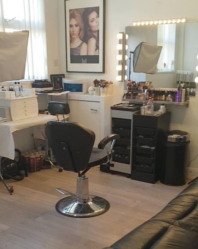 Tasleem's home salon had to shut because of coronavirus isolation measures (Credit: Kennedy News & Media)