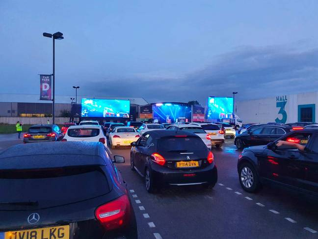 Cars simply park up and enjoy the show (Credit: One Agency)