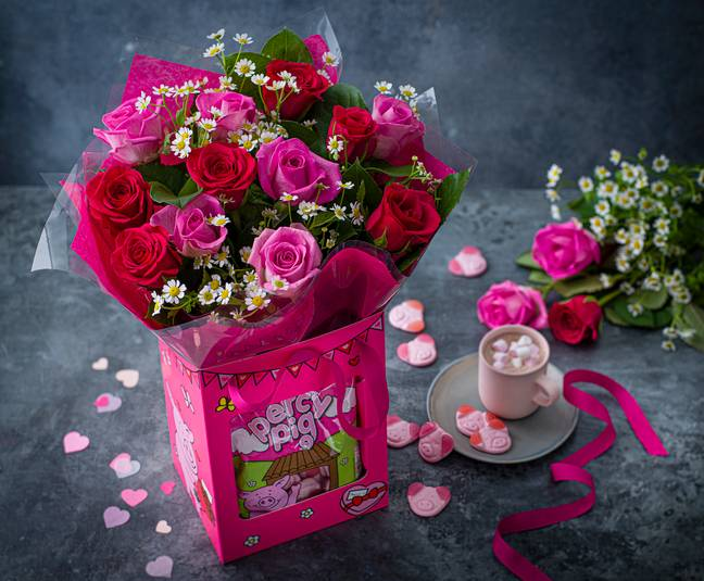 There's also a Valentine's Percy & Penny Flowers Gift Bag (Credit: M&S)