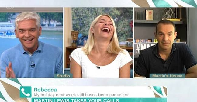 Fellow presenter Holly Willoughby struggled to contain her giggles (Credit: ITV / This Morning)