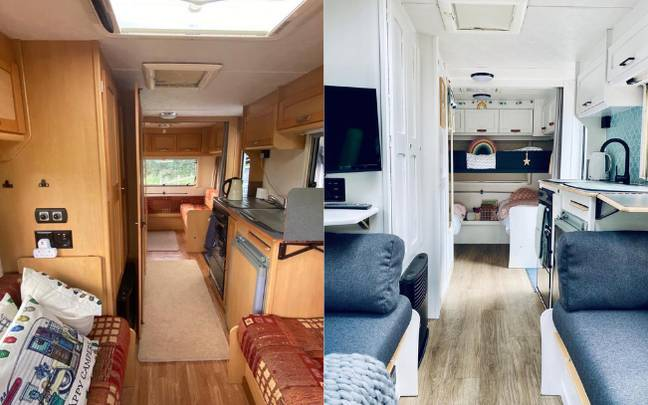 Natalie renovated the secondhand caravan in just four weeks (Credit: Natalie Hopkins/CONTENTbible)