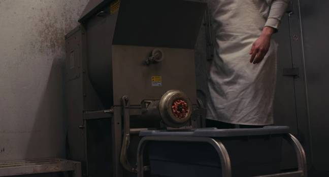 Carole says the meat grinder shown in the documentary was not true to life (Credit: Netflix)