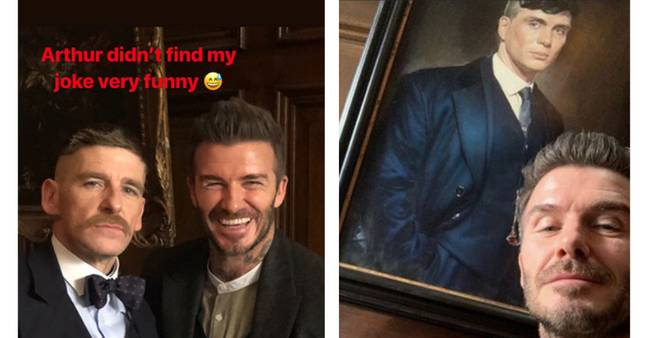 It wouldn't be the first time David and Paul have rubbed shoulders (Credit: David Beckham/ Instagram)