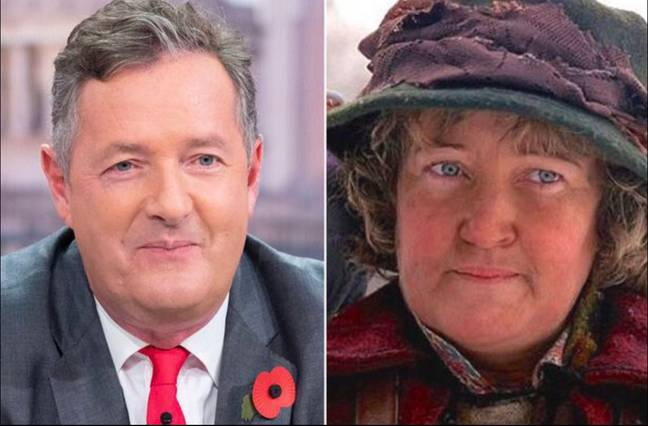 Earlier this month, Piers Morgan was forced to deny that he was The Pigeon Lady (Credit: ITV/20th Century Fox)
