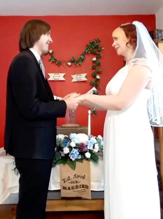 The couple will have a ceremony when restrictions ease (Credit: Caters)