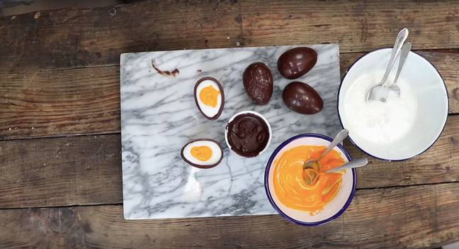 The fondant eggs look so easy to recreate (Credit: Paul A Young/Sainsbury's)