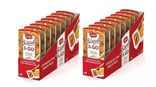 Last month, they announced their 'Biscoff and Go' packs would be sold in the UK. Credit: Lotus Biscoff