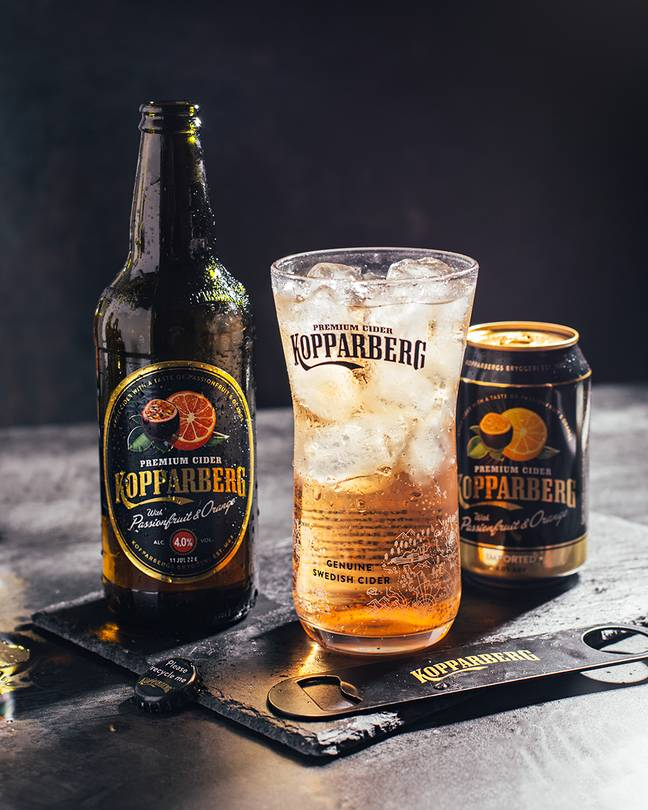 Kopparberg launched their passionfruit and orange flavoured gin in May last year and its popularity has led to a cider flavour (Credit: Kopparberg)