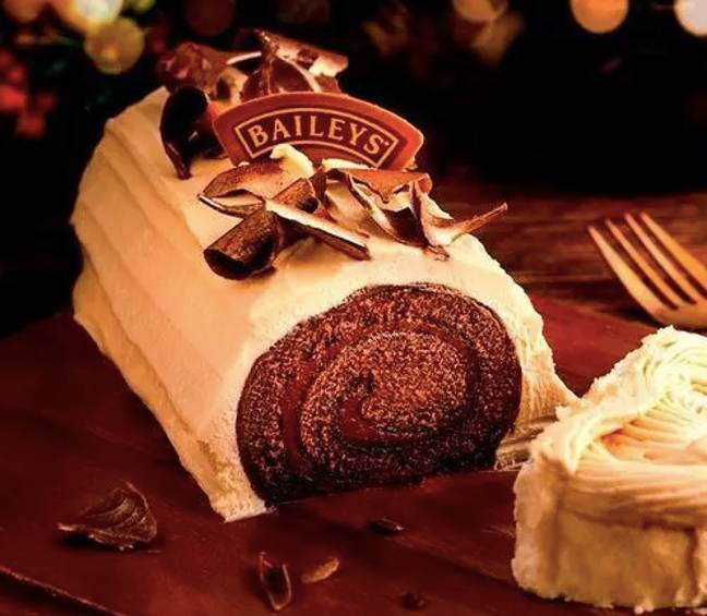 You can also try a Baileys Yule Log (Credit: Baileys/Finsbury Food Group)