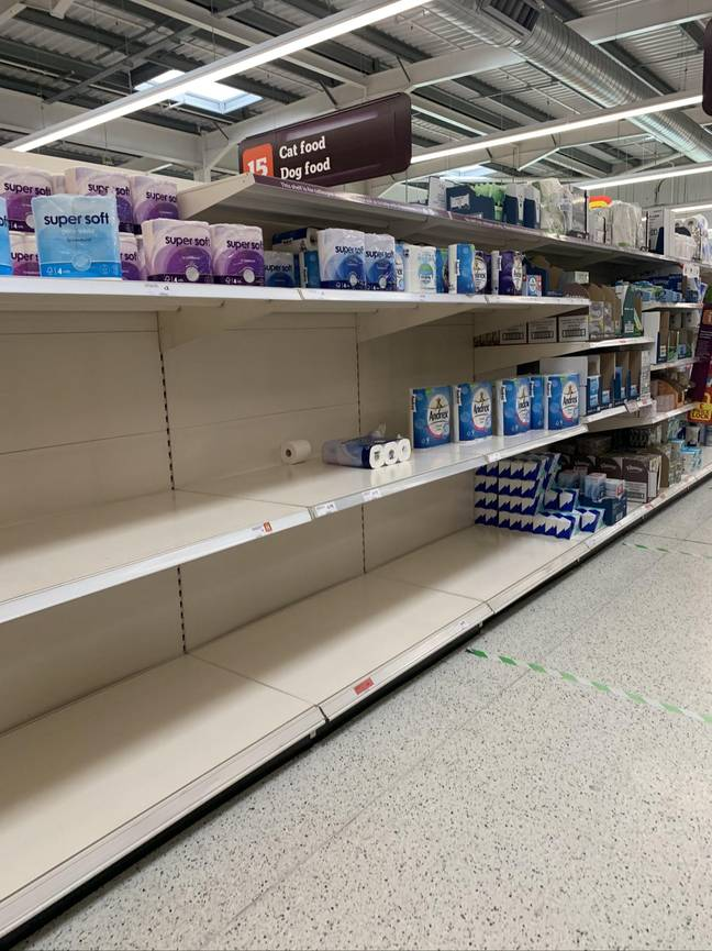 Shelves were bare back in March (Credit: PA)