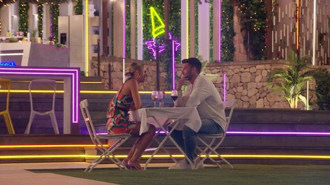 Millie and Liam got hot on the date (Credit: ITV)