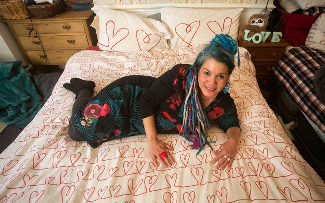 Pascale said her duvet gives 'great hugs' which we agree with. (Credit: SWNS)