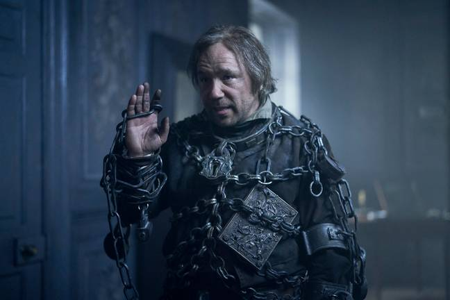 'This Is England' star Stephen Graham is the ghostly vision of Jacob Marley (Credit: BBC)