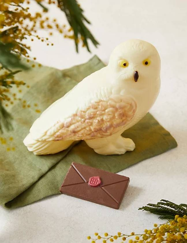 Hedwig comes complete with its own chocolate envelope (Credit: M&S)