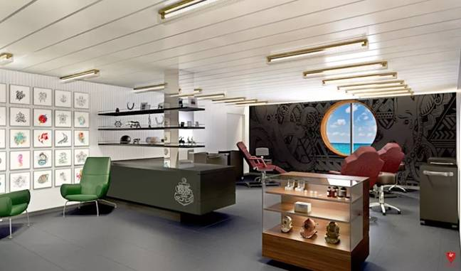 The ship will have it's own tattoo parlour. (Credit: Virgin Voyages)