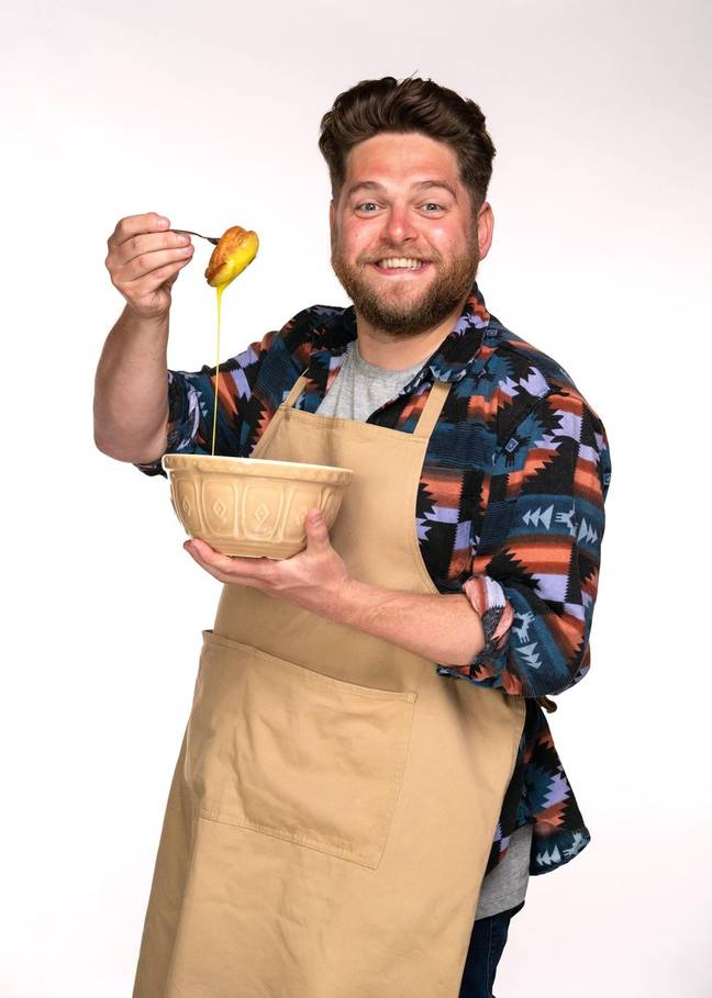 Project manager Mark, 32, is from Liverpool and began baking at uni (Credit: Channel 4)