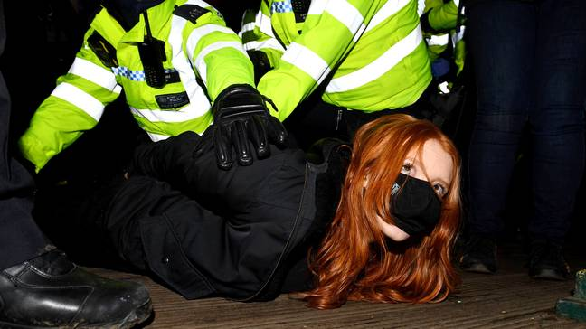 Woman Pinned Down By Police At Sarah Everard Vigil Says She Was 'Terrified'