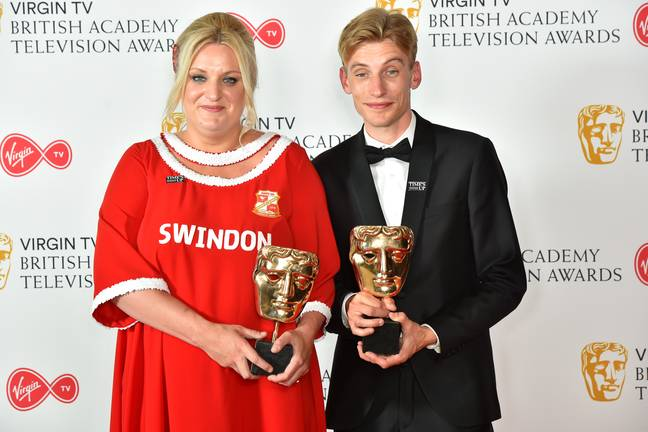 Real-life siblings Charlie and Daisy May have won several BAFTAs for the comedy. (Credit: PA)