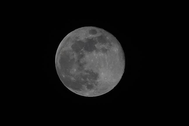 The blue moon last occurred in 2018 (Credit: PA)