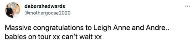 Fans were intrigued by Deborah's wording (Credit: Twitter)