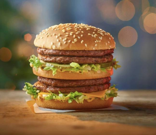 The Double Big Mac features four beef patties (Credit: McDonalds)