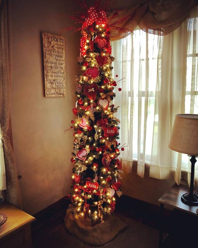 This slimline tree doesn't take up too much space so is convenient to keep up for a long period of time (Credit: Instagram/laymarlex3)