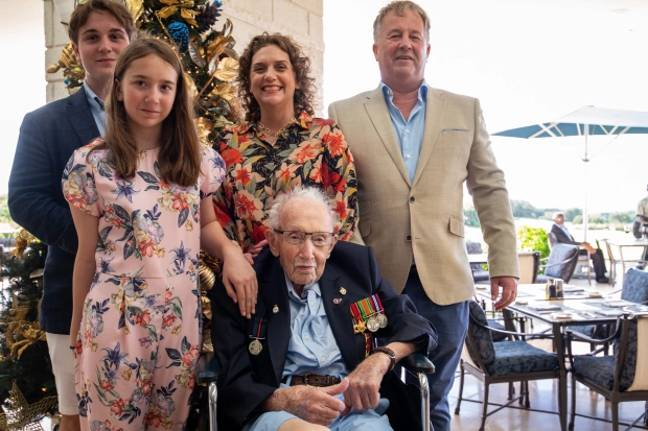 Captain Sir Tom was treated to the holiday by BA (Credit: Twitter/ Captain Tom)