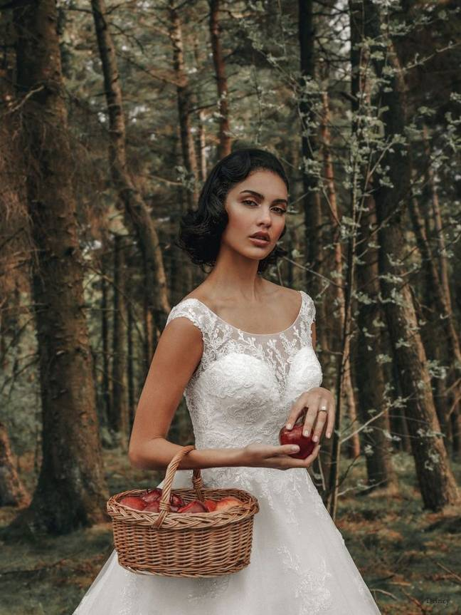 Snow White has inspired two gorgeous gowns (Credit: Allure Bridal/Disney)