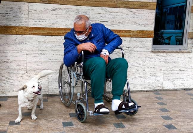 Cemal Senturk was reunited with his dog Boncuk (Credit: PA)