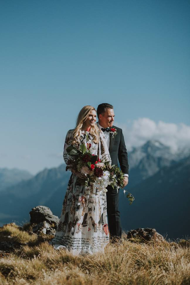 Amy and Sean were married on Valentine's Day 2018 (Credit: Amy Broch)