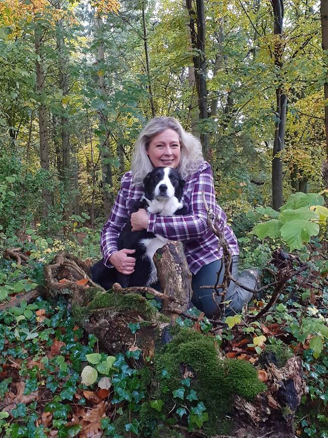 SallyAnn took beloved dog Cap to see his old owner (Credit: SWNS)