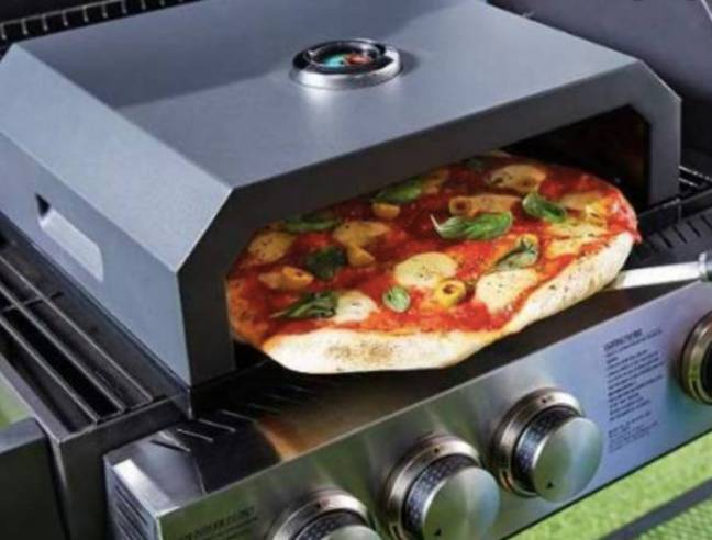 The supermarket giant has just launched a BBQ Pizza Oven (Credit: Aldi)
