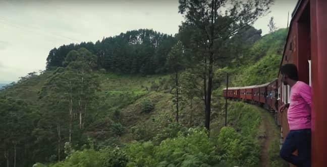 Sri Lanka is a world-leading destination for scenic train travel (Credit: YouTube)